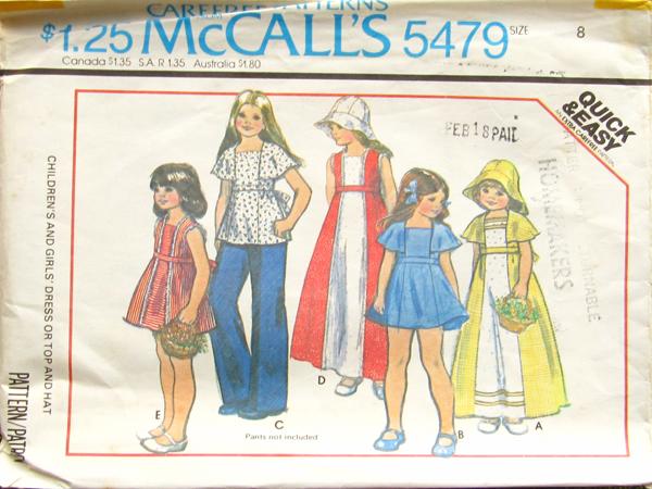 McCall's 5479 A