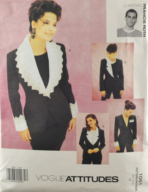 Vogue 1051 Misses' Christian Frances Roth Jackets 1.jpg