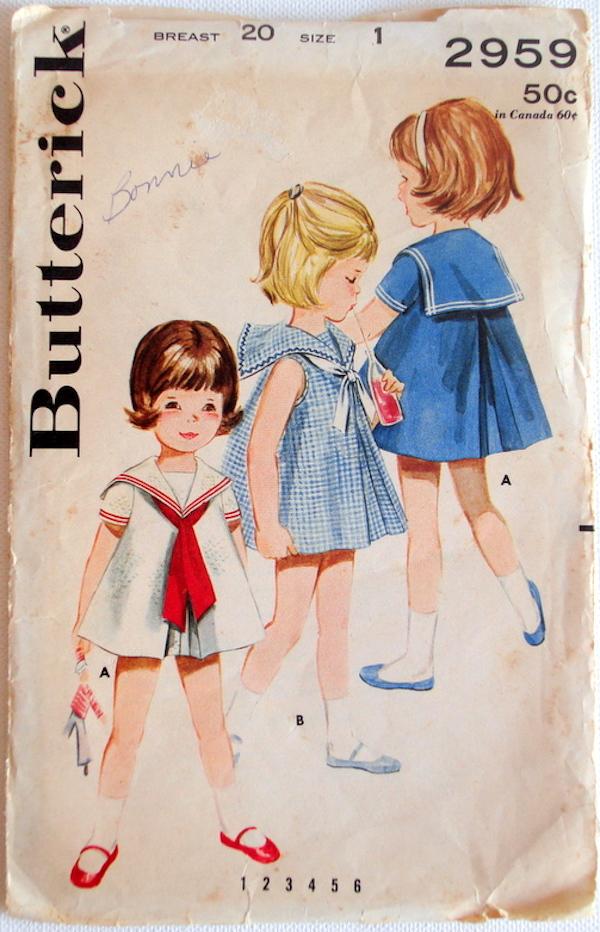 Butterick 2959 A