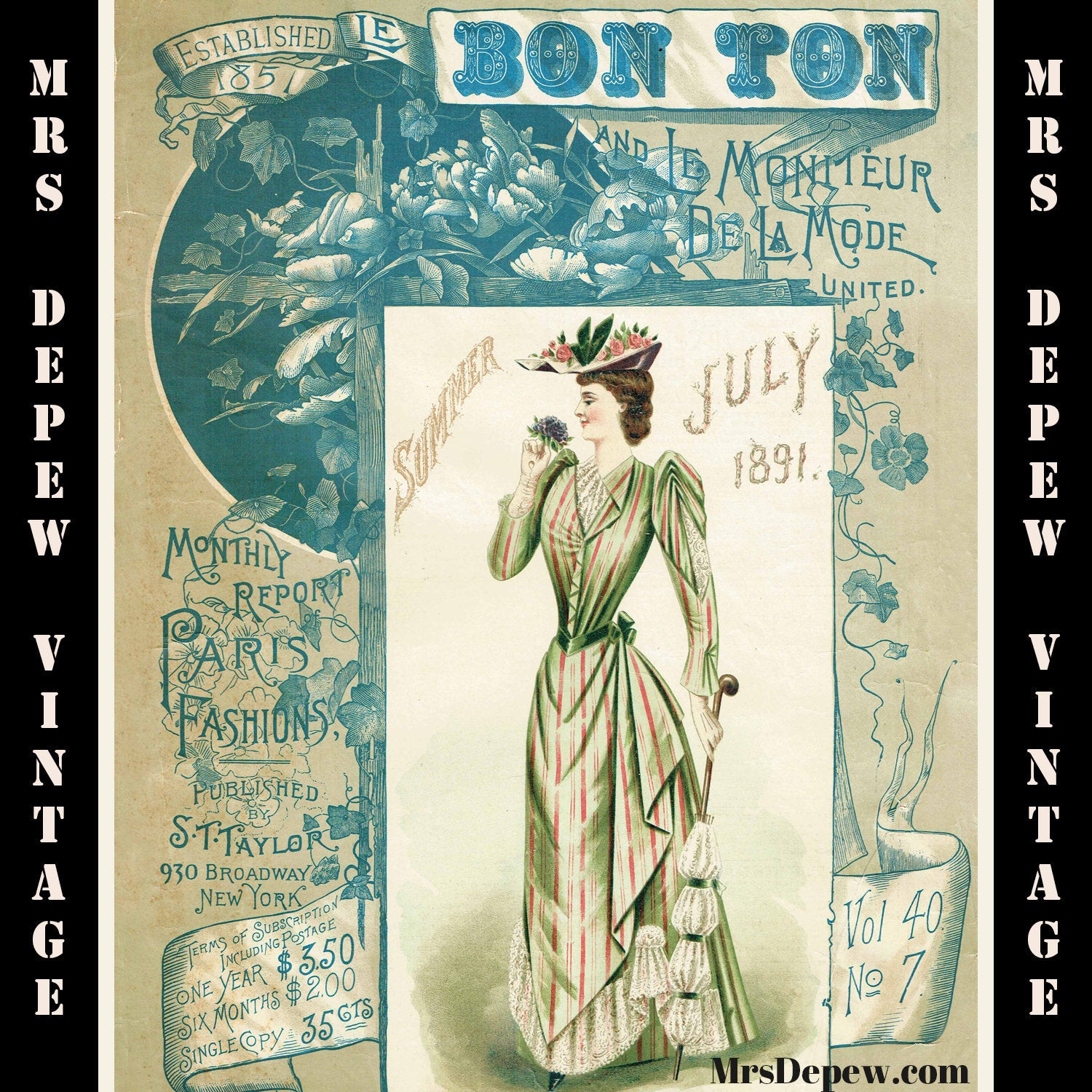 Le Bon Ton July Summer 1891