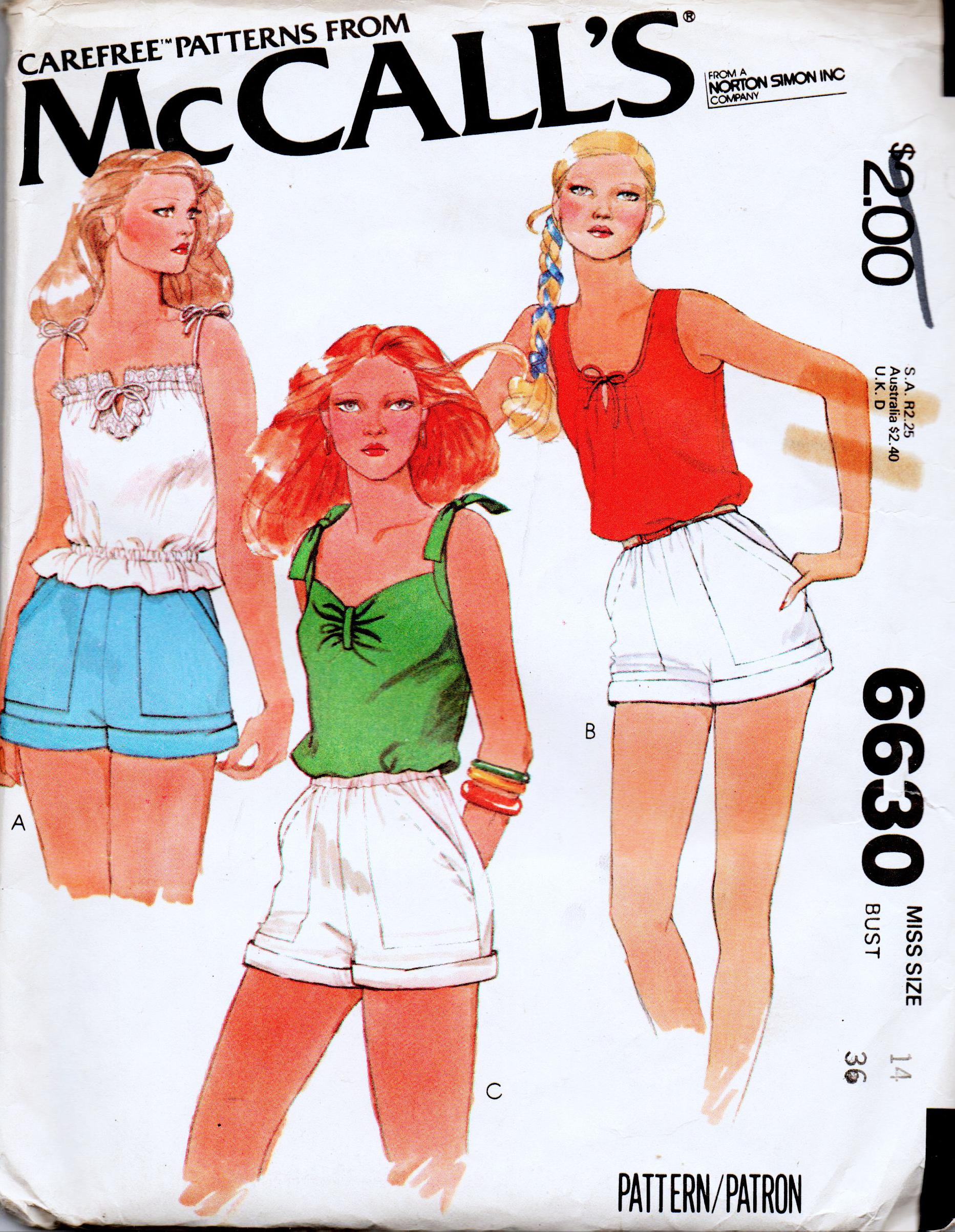McCall's 6630 A