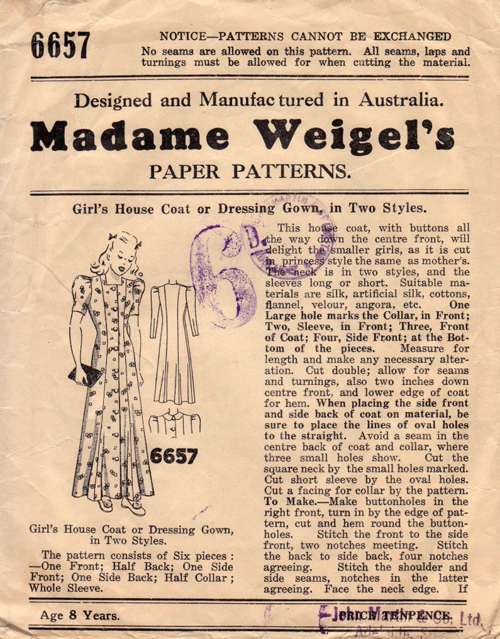 Madame Weigel's 6657