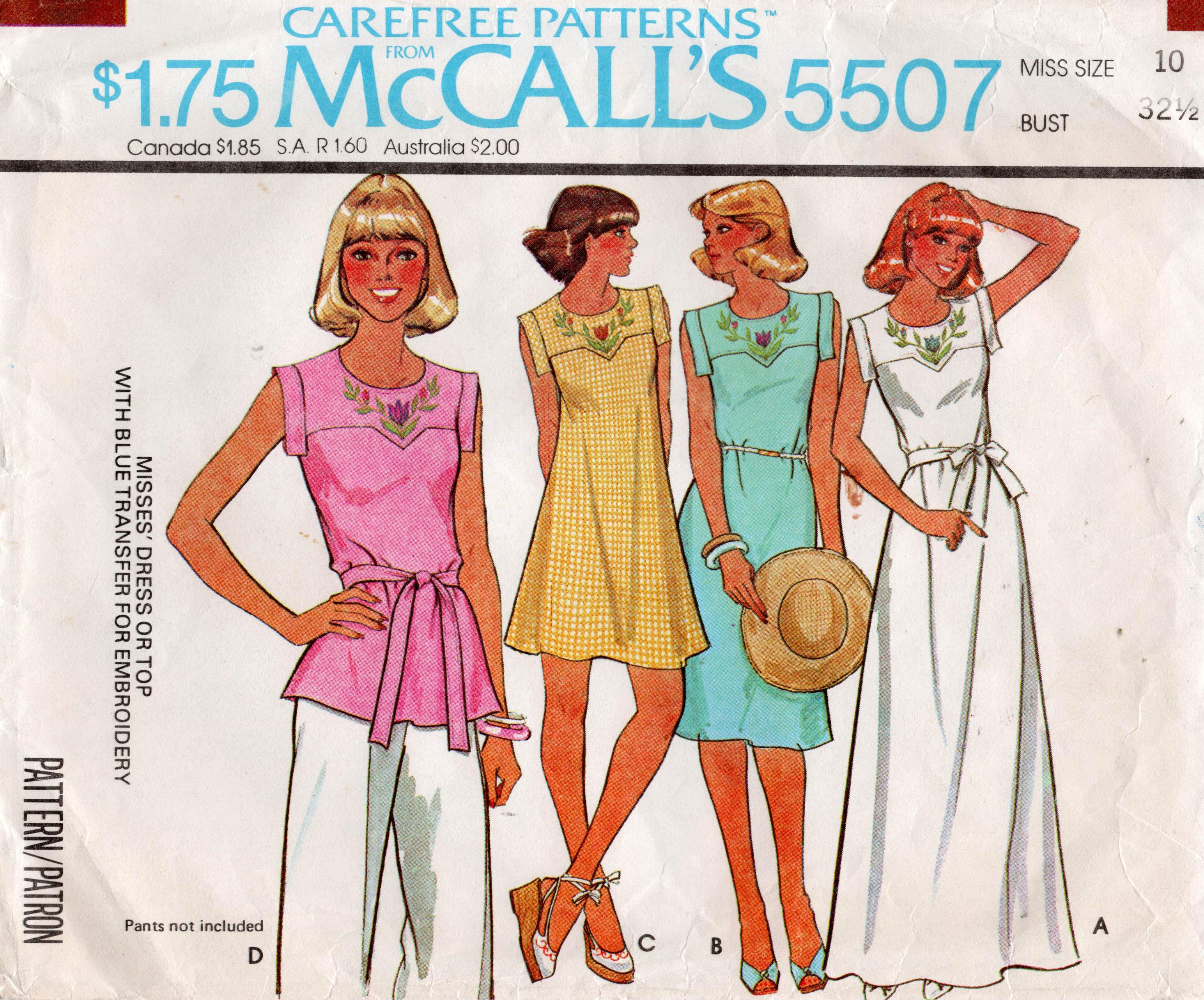 McCall's 5507 A