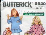 Butterick 5920 A