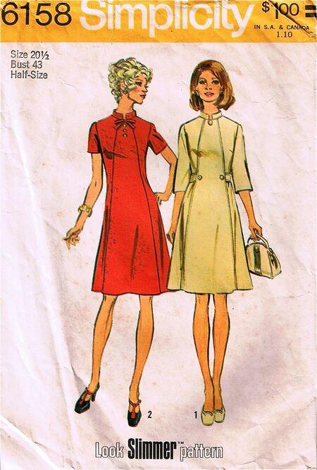 Simplicity 6158, copyright 1973.