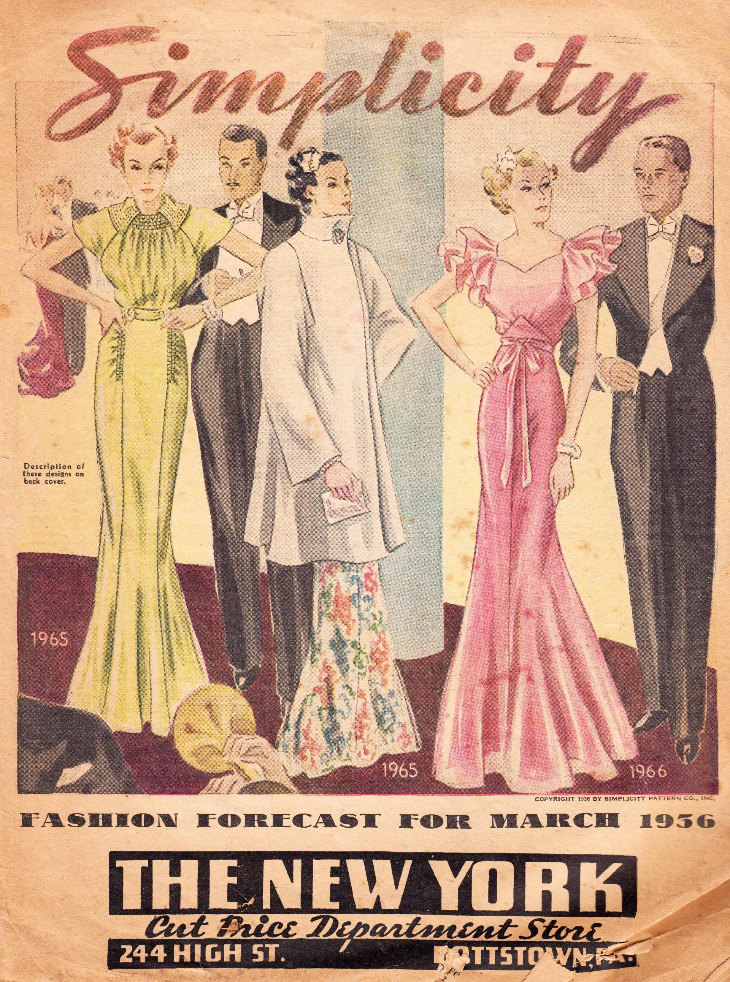 Simplicity Fashion Forecast March 1936