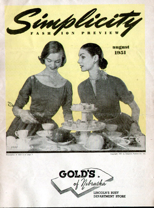 Simplicity Fashion Preview August 1951