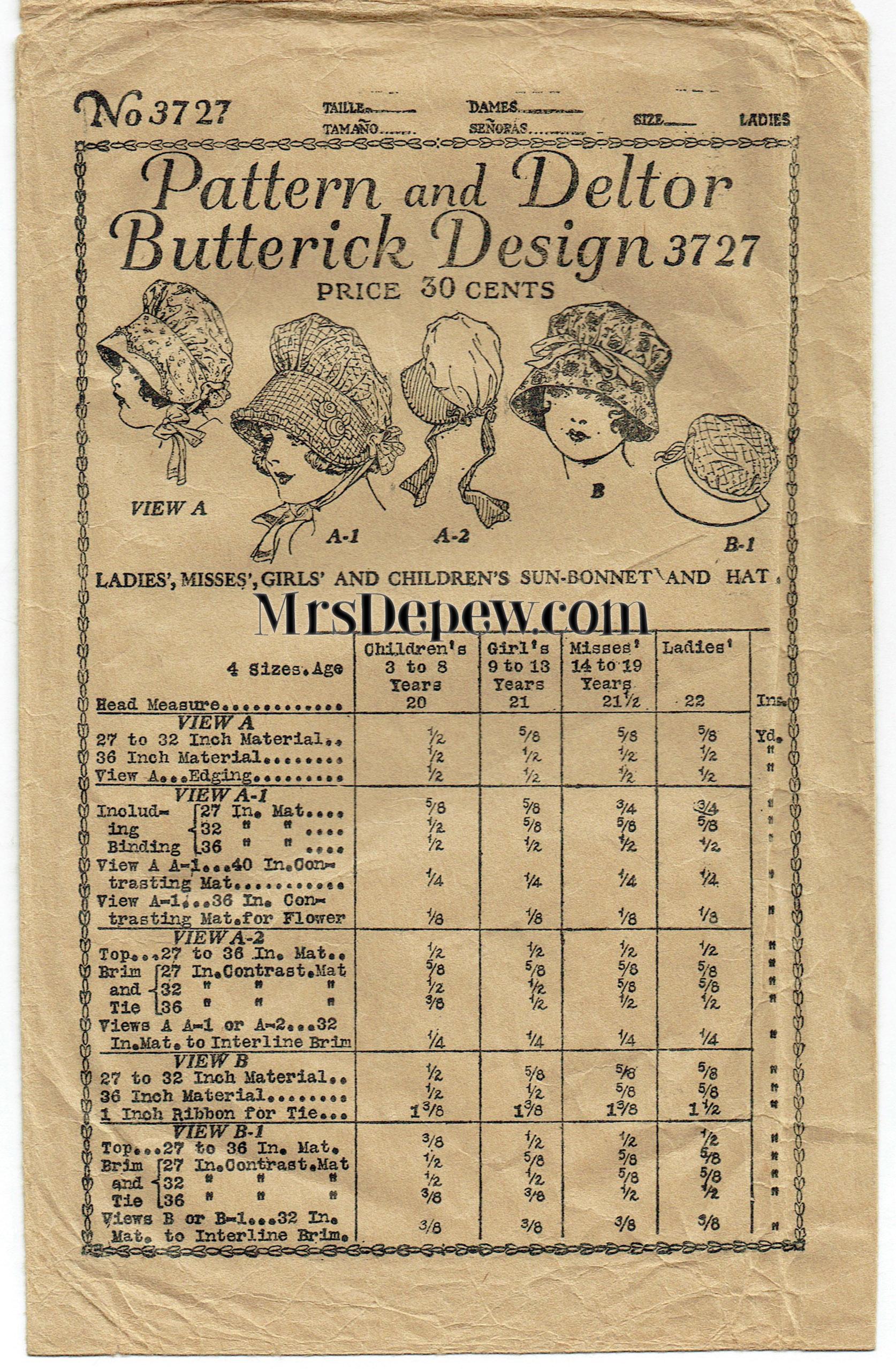 Butterick 3727 D