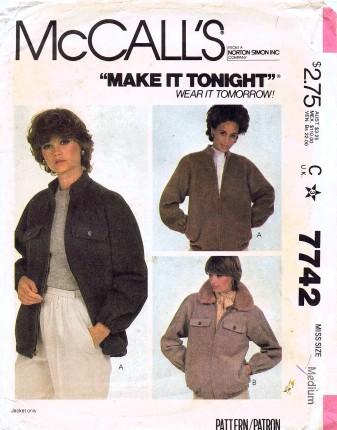 McCall's 7742 A