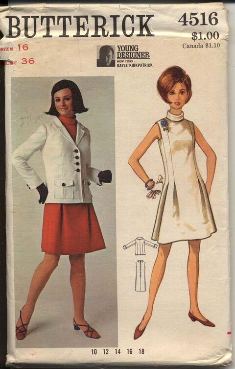 Butterick 4516 B One-Piece Dress and Jacket