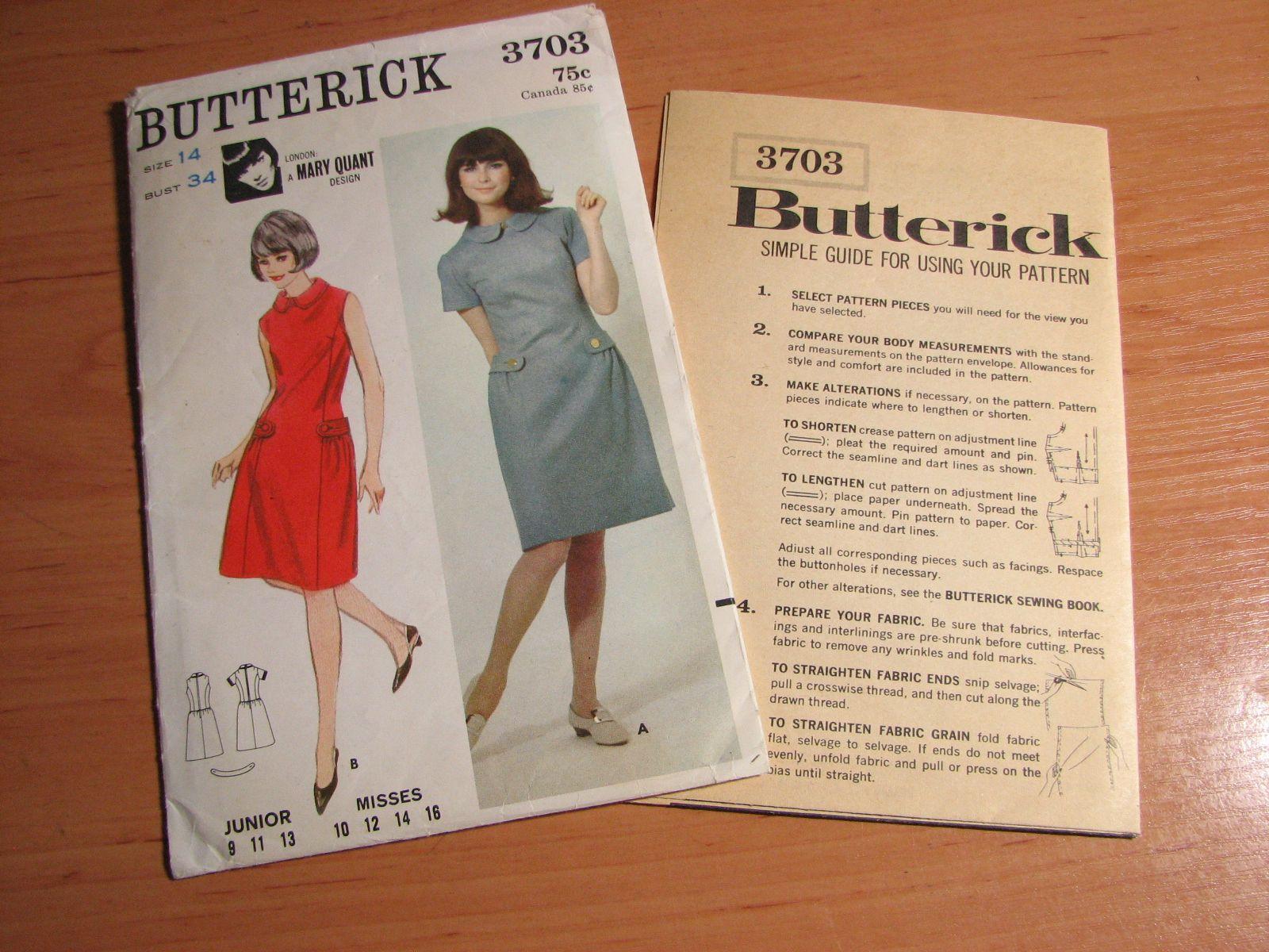 Butterick 3703 B