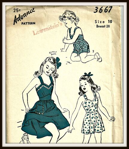 Halter dress, shorts and halter top. c1940's