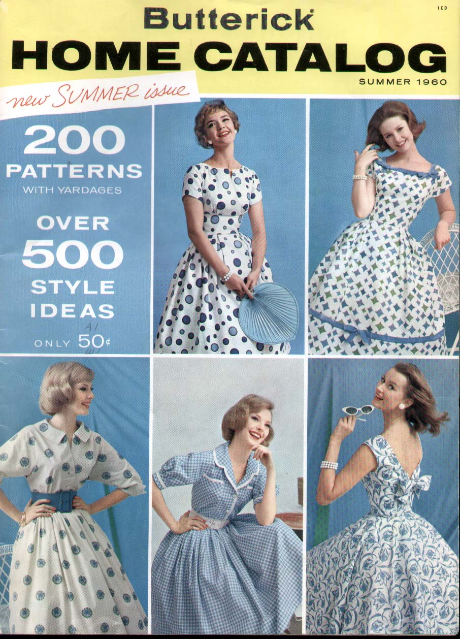Butterick Home Catalog Summer 1960