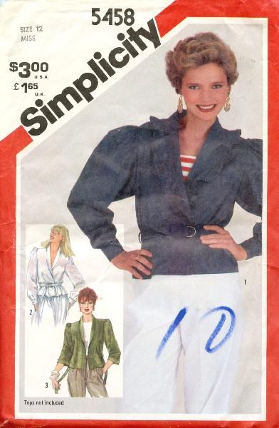 Simplicity 5458 A