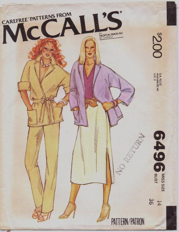 McCall's 6496