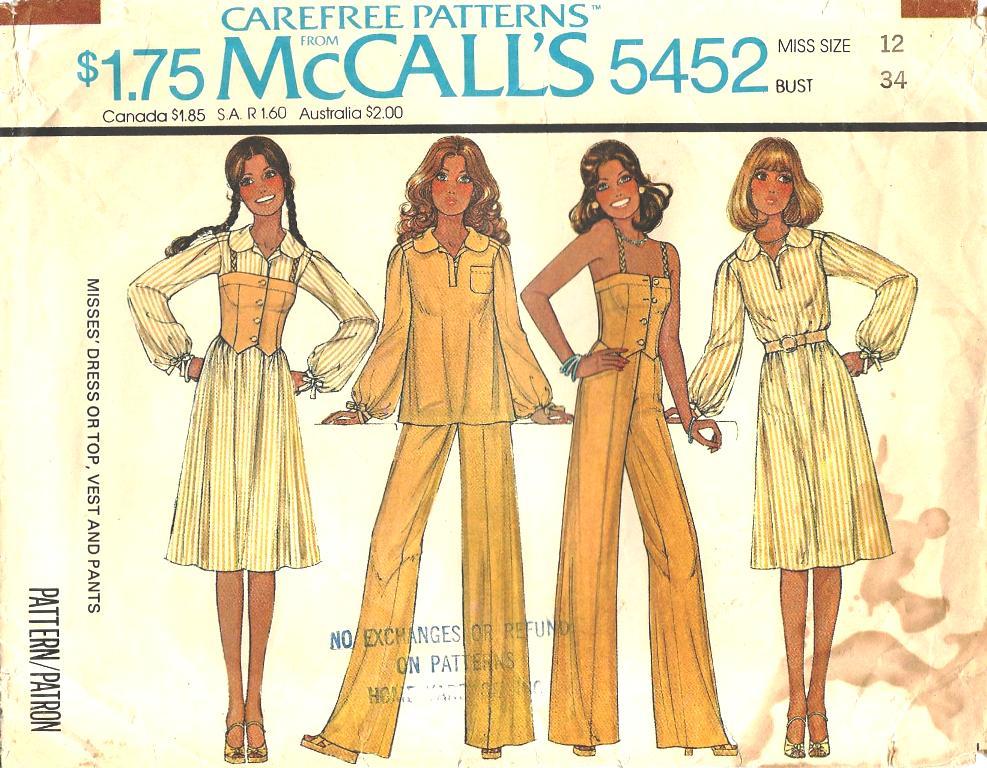 McCall's 5452 A