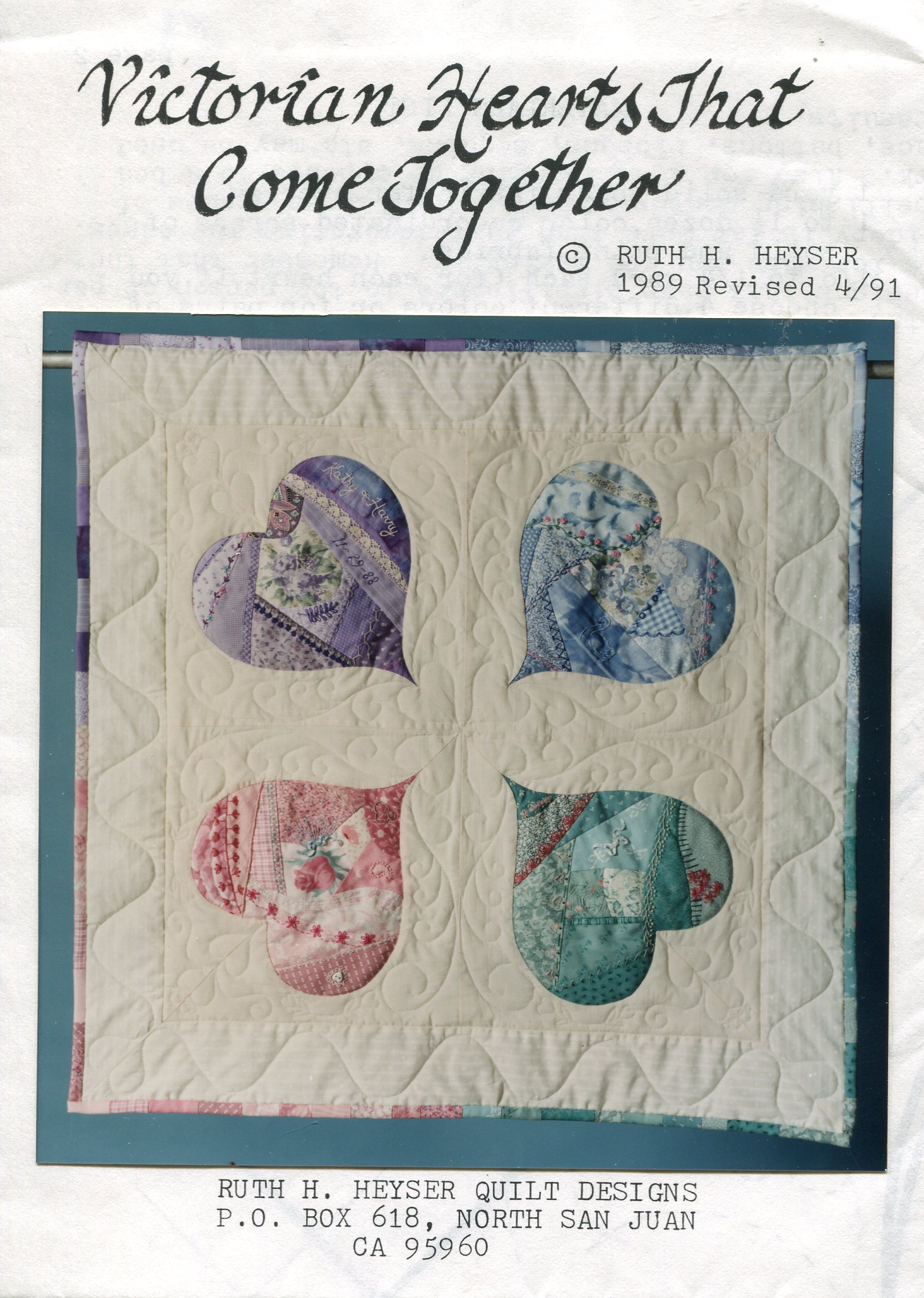 Ruth H. Heyser Quilt Designs Victorian Hearts That Come Together