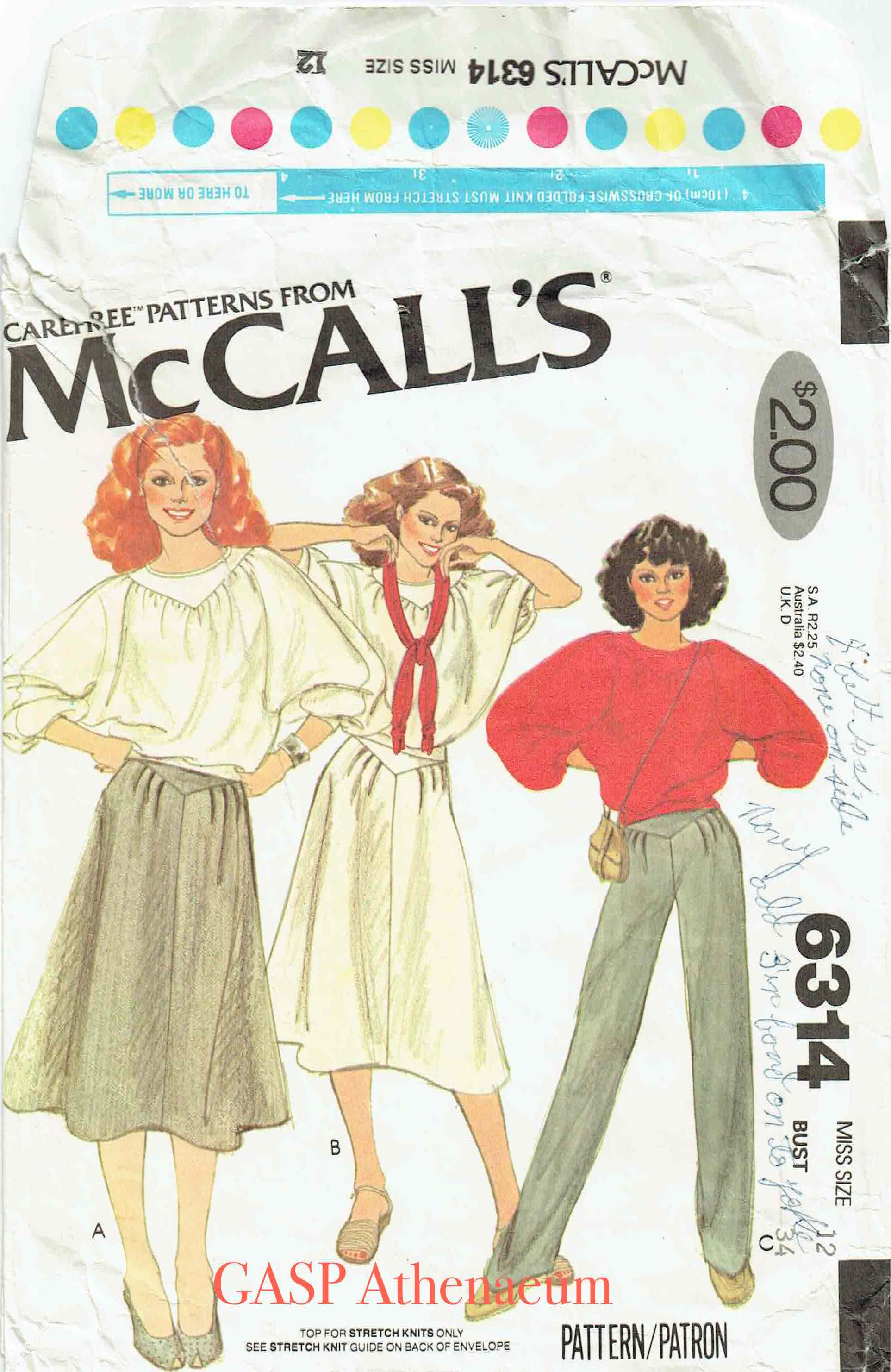 McCall's 6314 A