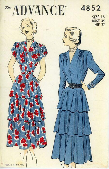 Advance 4852 Misses' Dress
