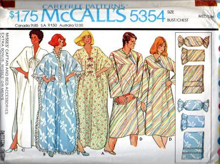 Misses Caftan and Bed Accessories