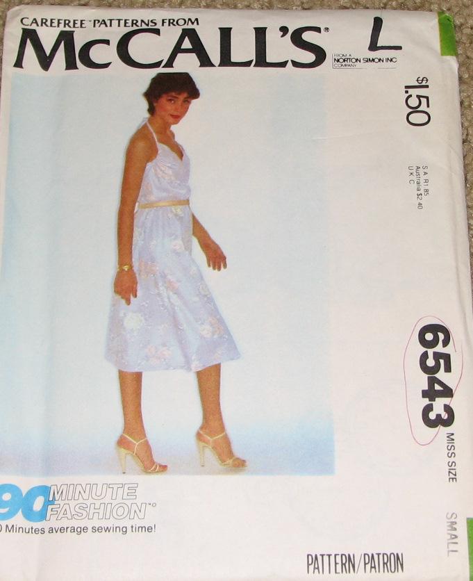 McCall's 6543 A