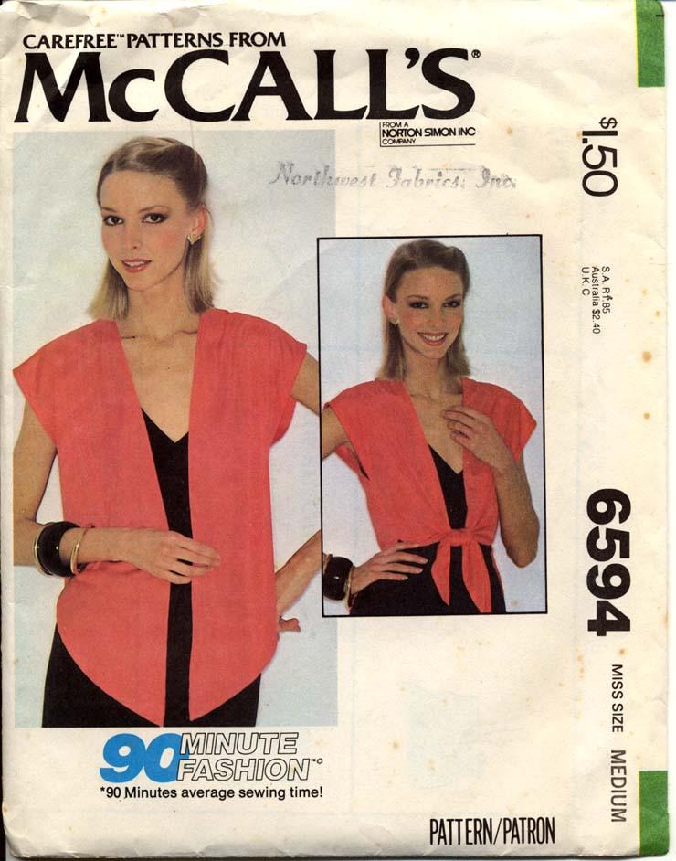 McCall's 6594 A