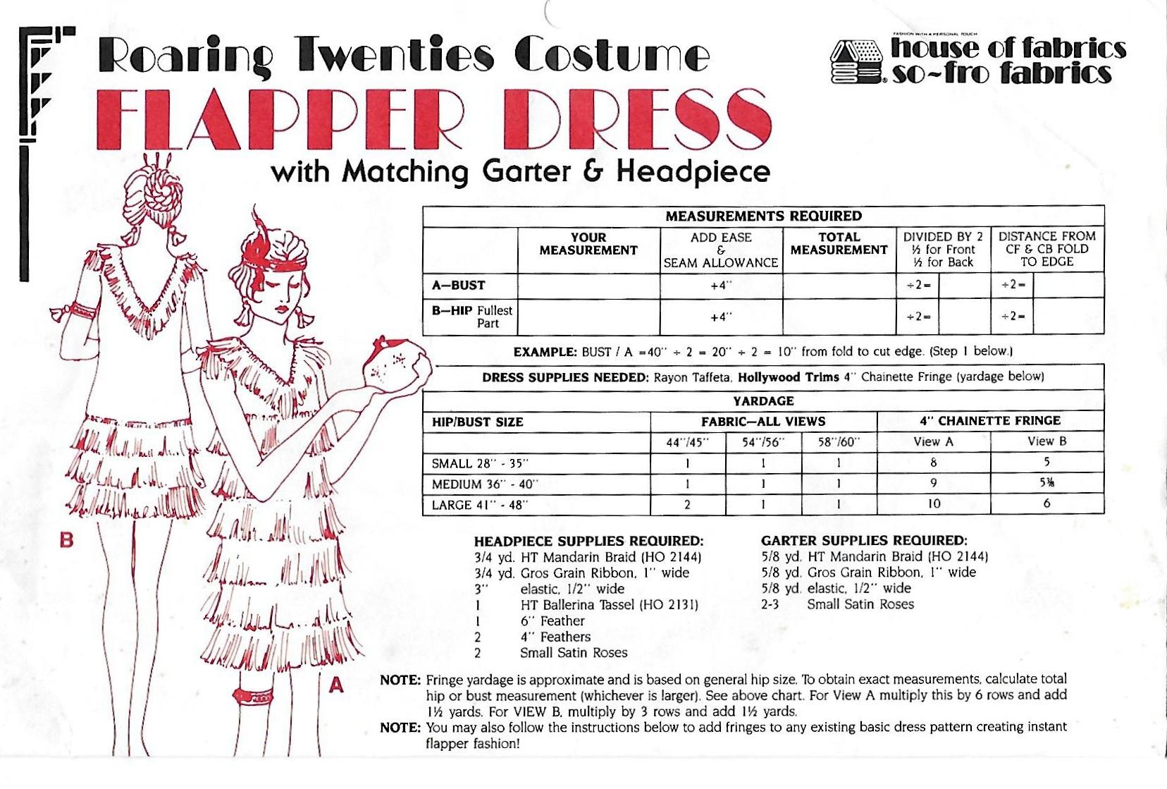 House of Fabrics Flapper Dress