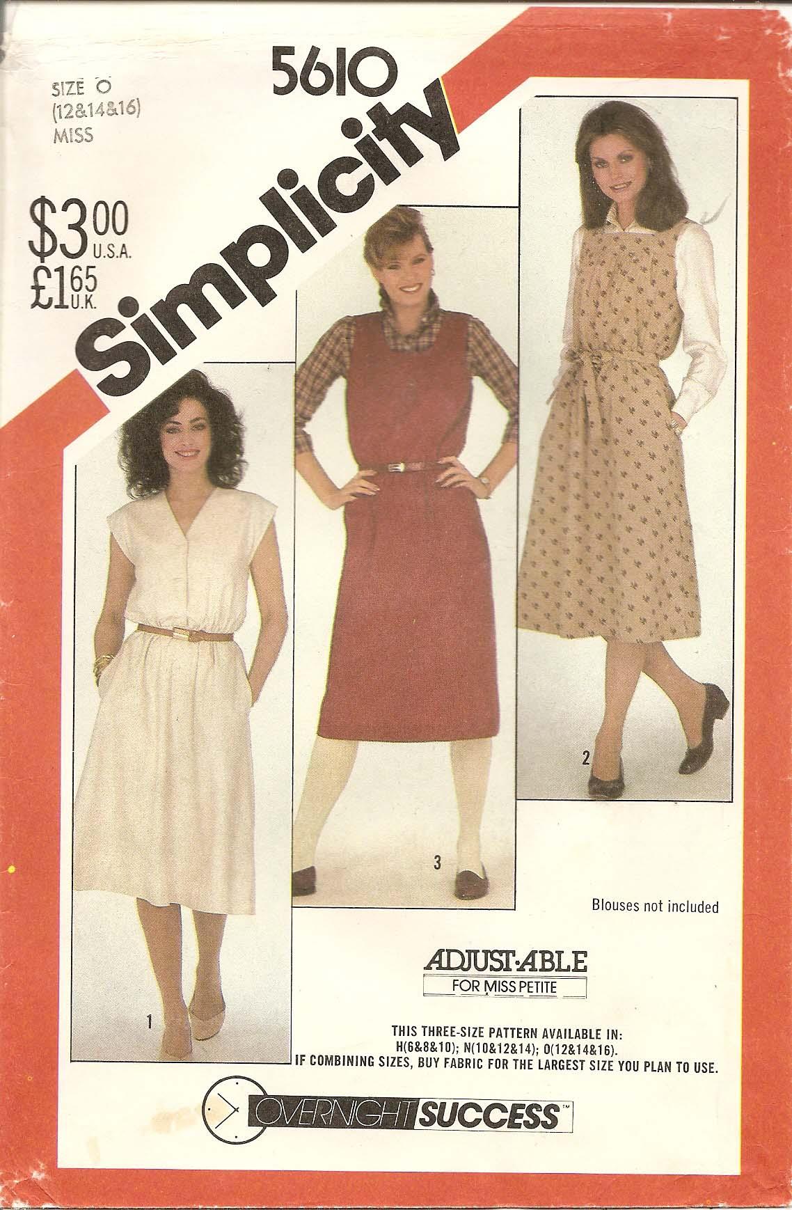 Simplicity 5610 A