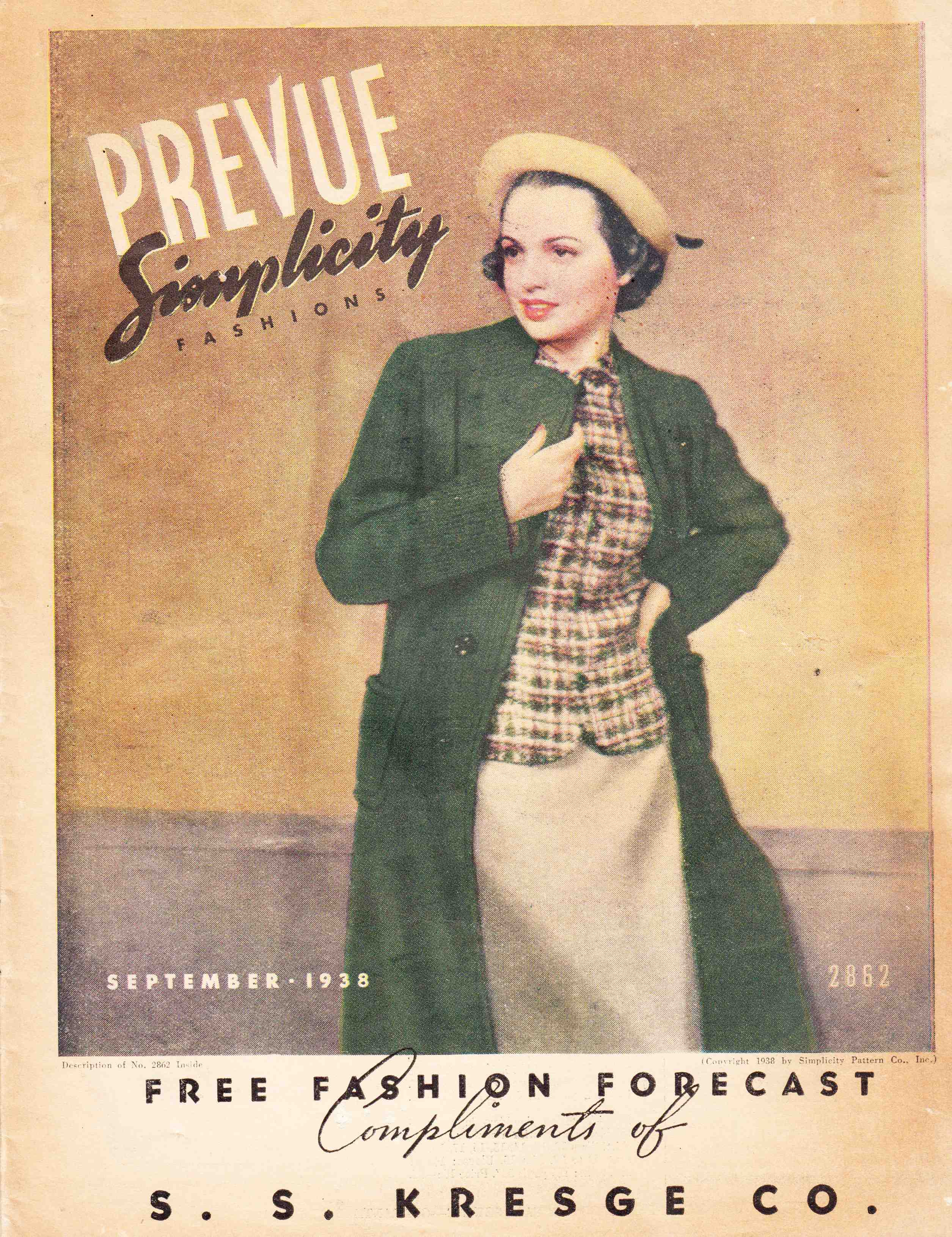 Simplicity Prevue September 1938