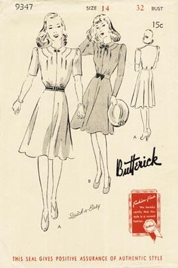 Butterick 9347 A