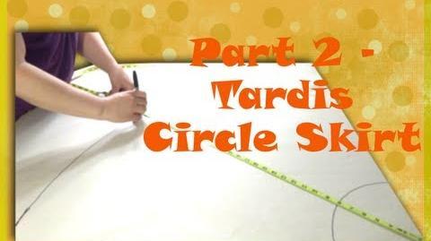 Part 2 - TARDIS Full 50s Circle Skirt - So Sew Vintage