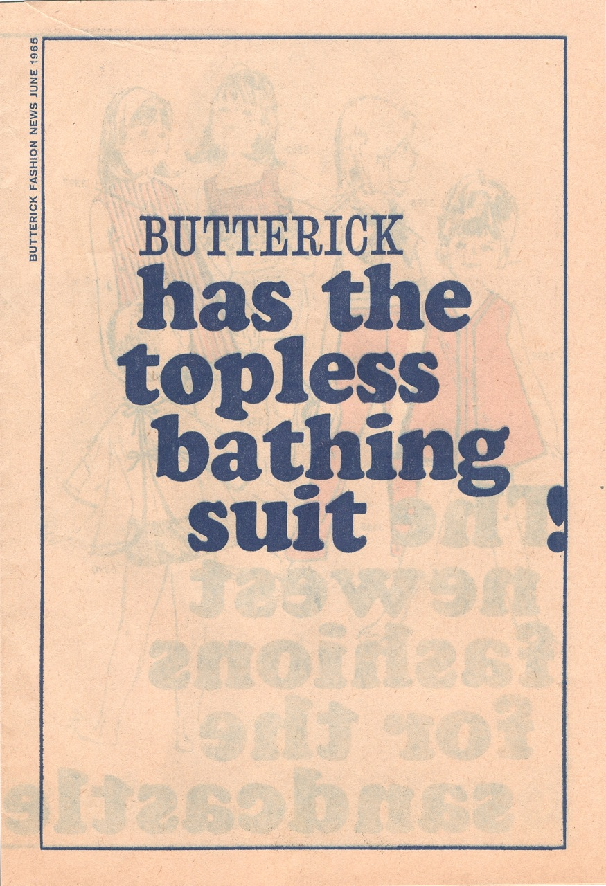 Butterick Fashion News June 1965