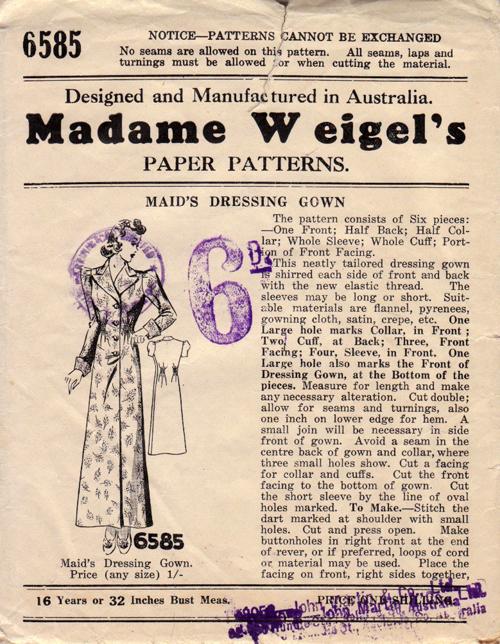 Madame Weigel's 6585