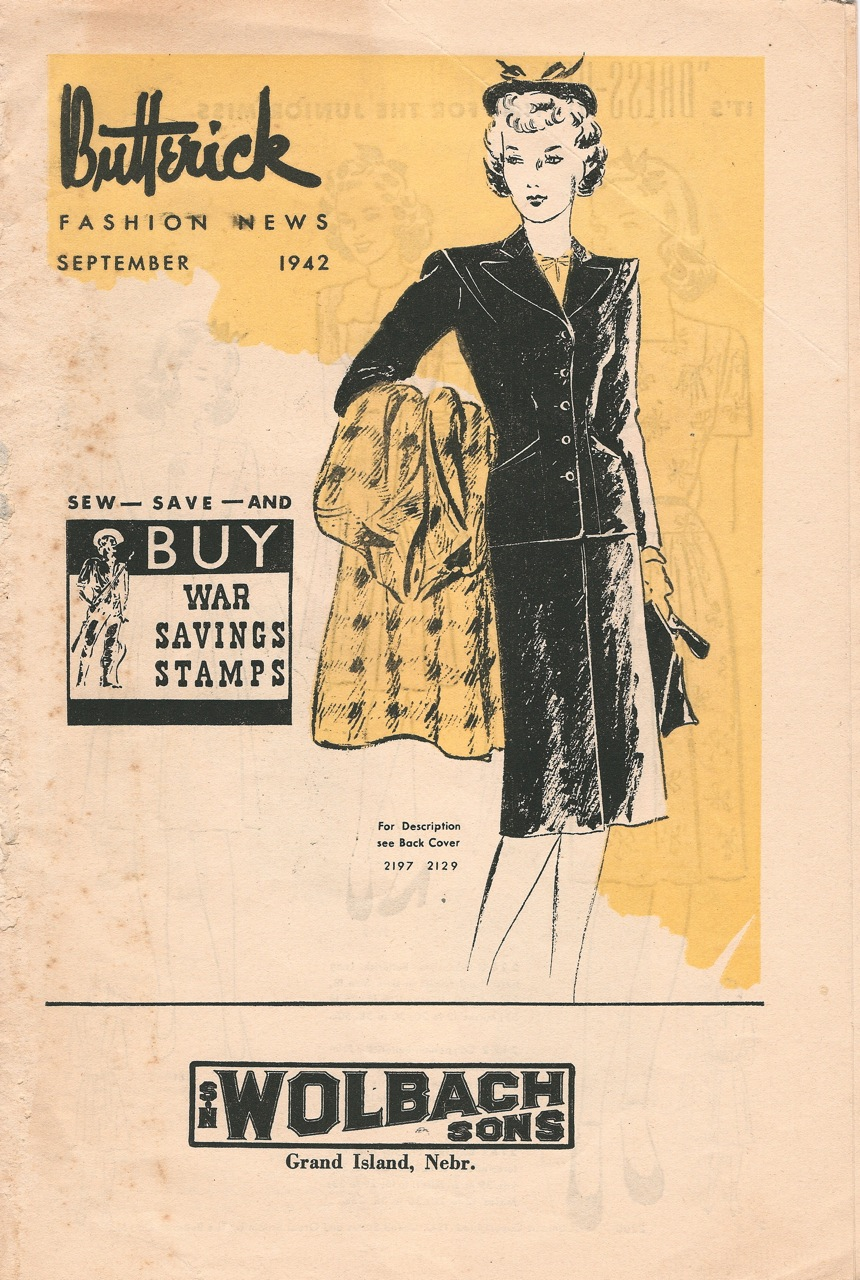 Butterick Fashion News September 1942
