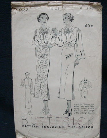 Butterick 6632 B