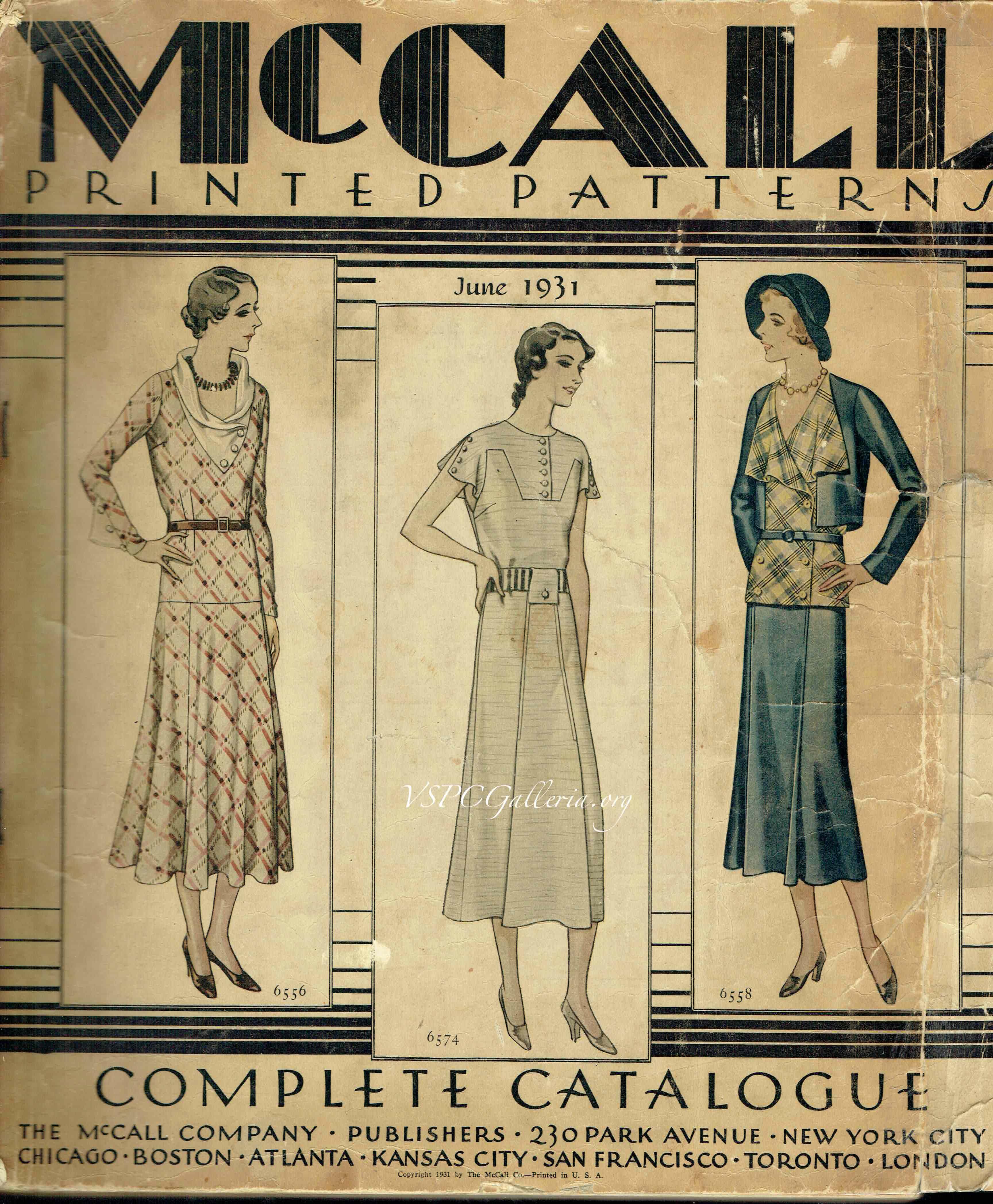 McCall Counter Catalog June 1931