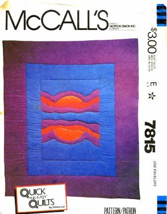 McCall's 7815 A