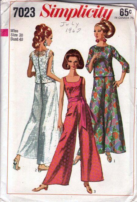 Vintage 1960s pattern - Jumpsuit