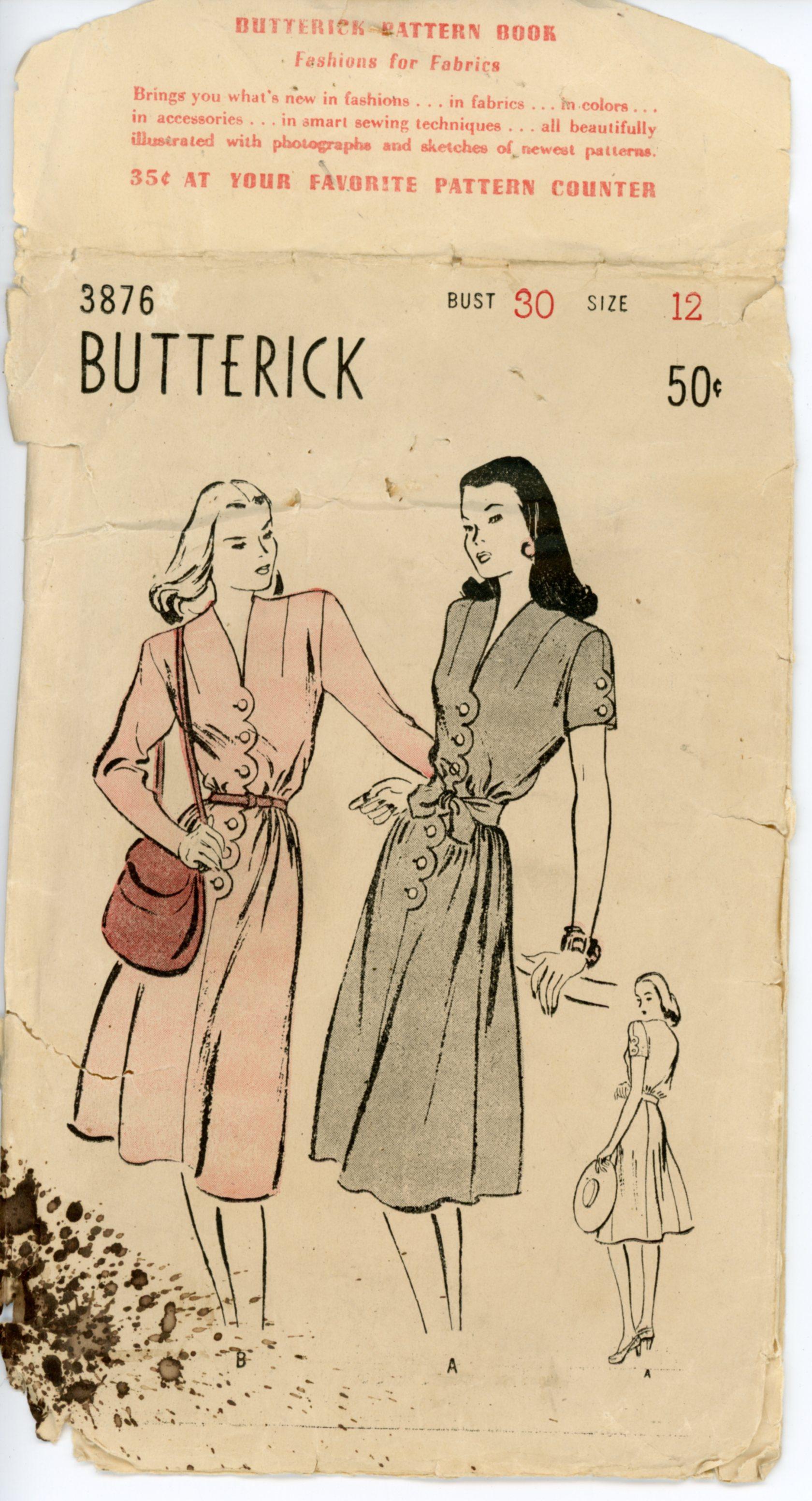 Butterick 3876 A