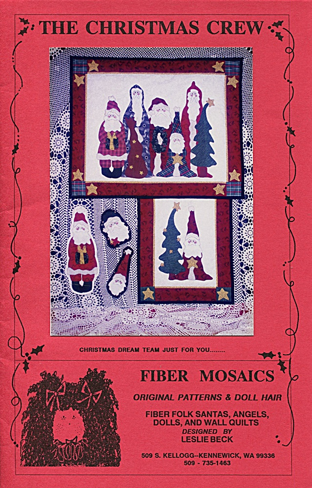 Fiber Mosaics The Christmas Crew