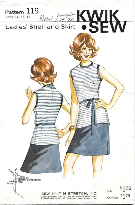 @1968 Ladies' Shell and Skirt