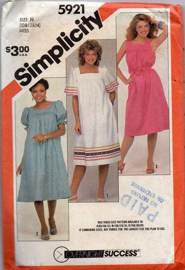 Simplicity 5921 A