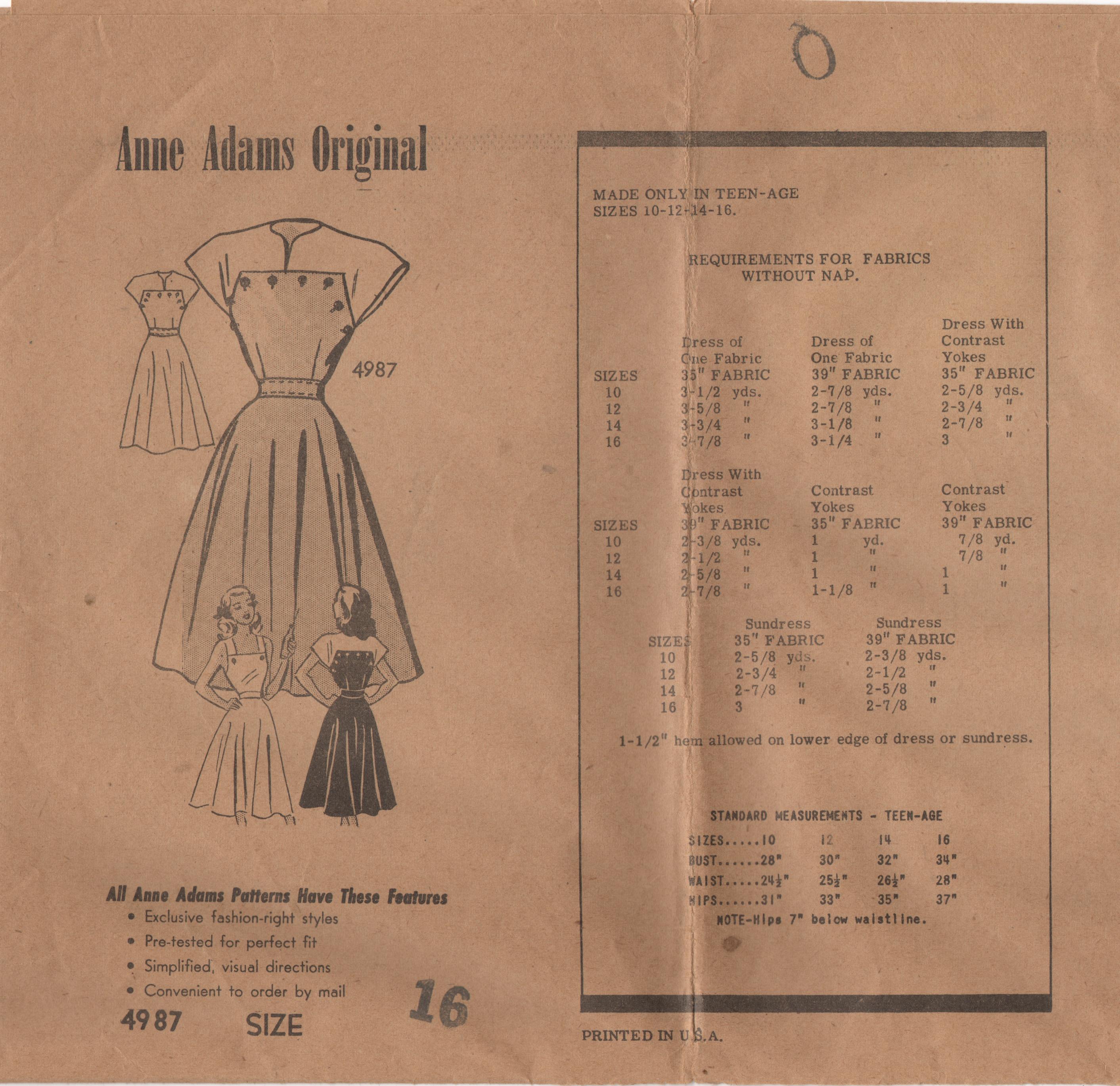 Anne Adams 4987 A