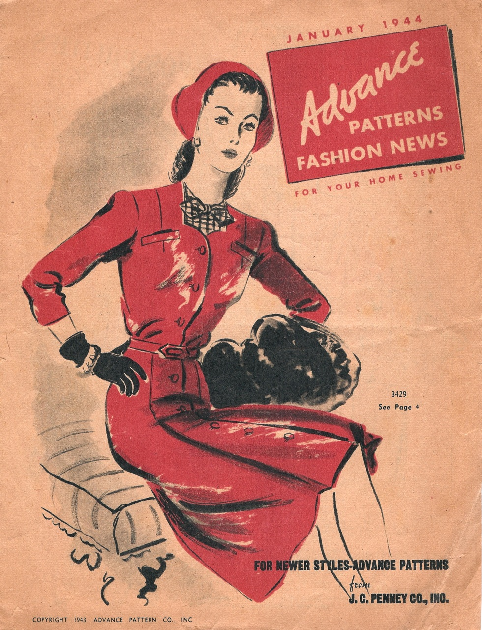 Advance Fashion News January 1944