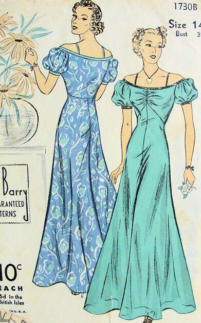 DuBarry Pattern 1730 Evening Dress