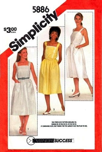 Simplicity 5886 B