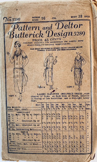 Butterick 5289 C