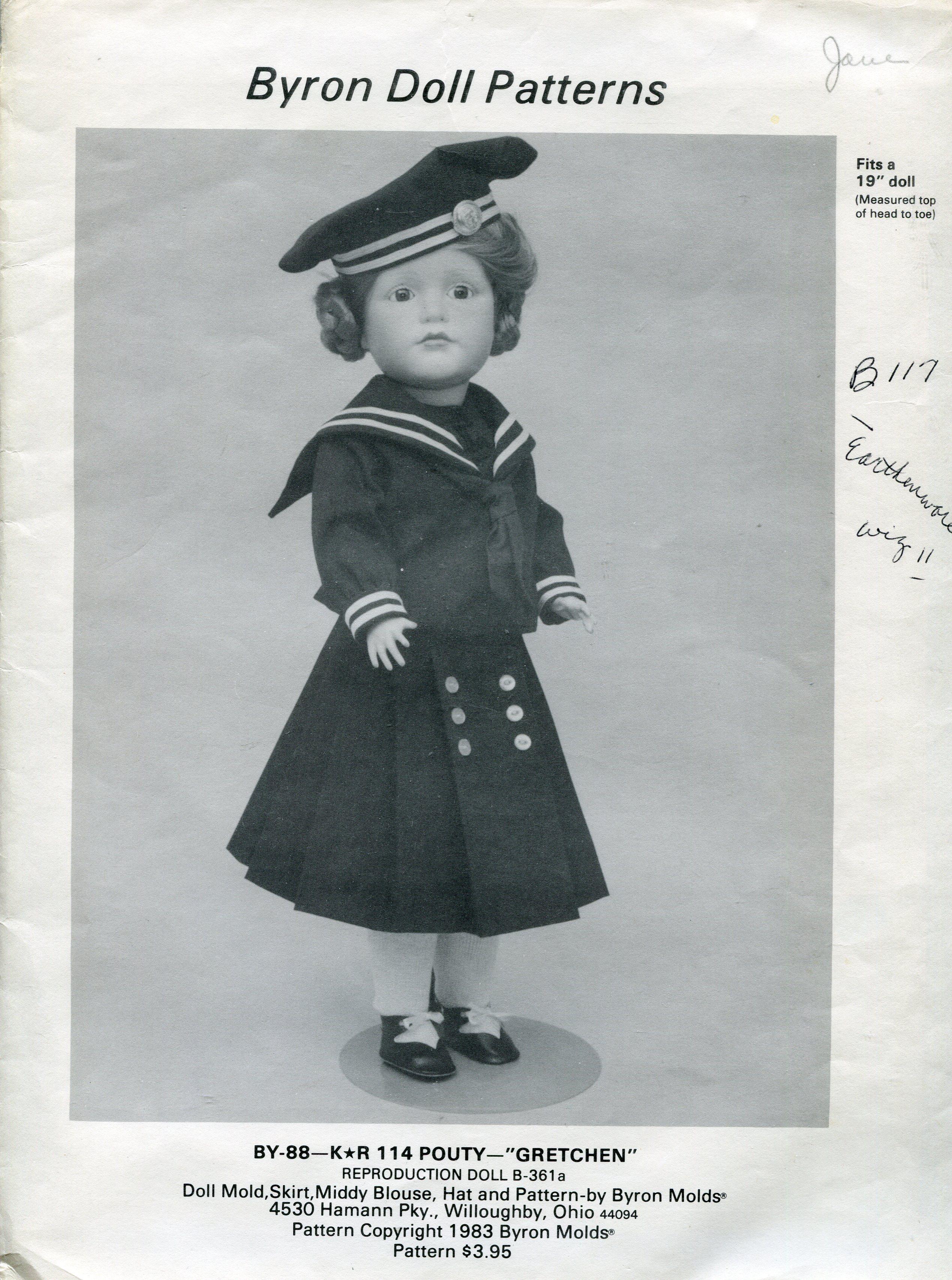 Byron Doll Patterns BY-88