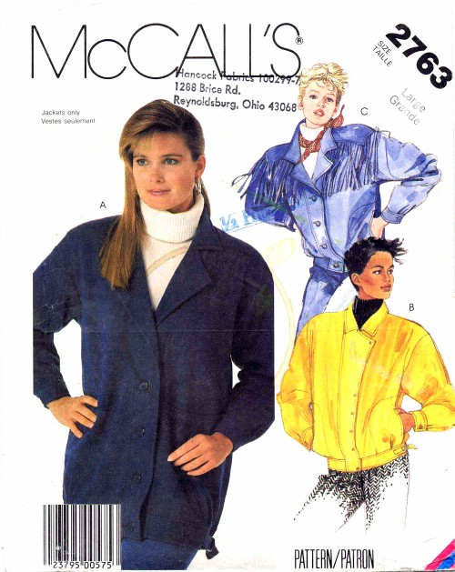 McCall's 2763 A