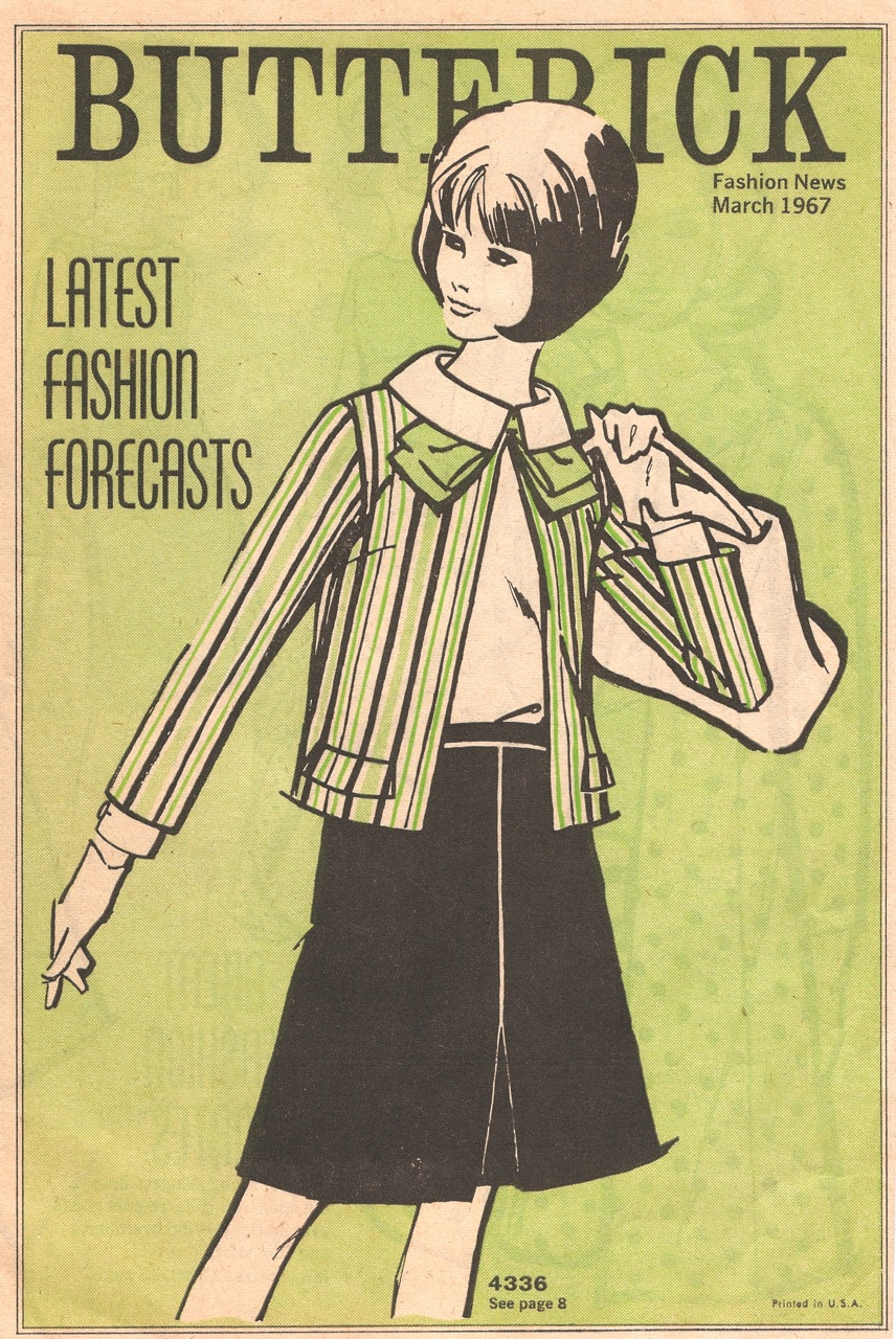 Butterick Fashion News March 1967